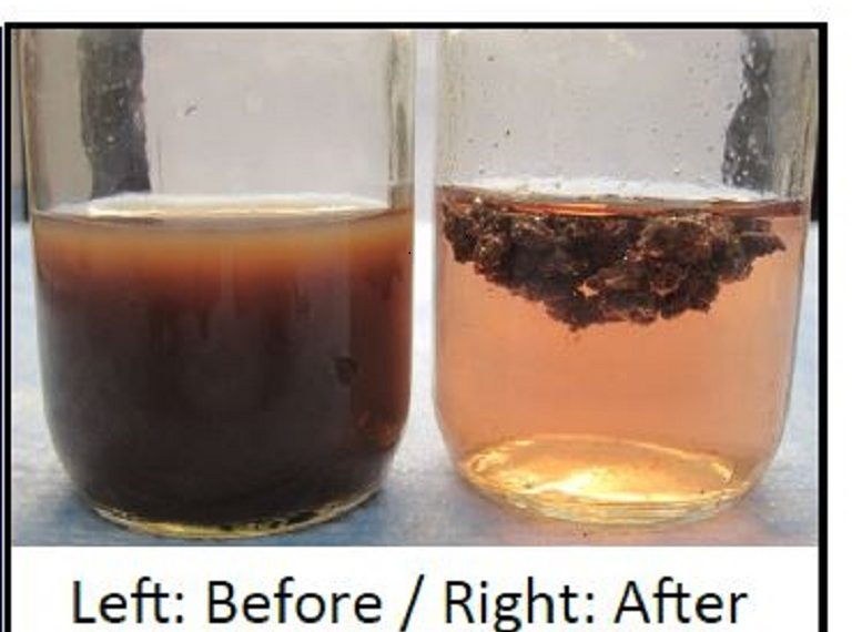 Jar test for wastewater treatment
